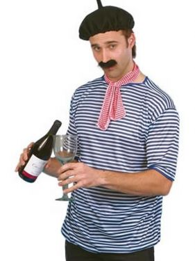 Mens Frenchman Costume Set
